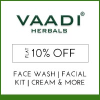 Vaadi Herbals Flat 10% off and Free GWP offer