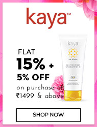 Kaya Flat 15%+5% off on purchase of Rs 1499 and above off