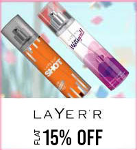 Get Online Offers on Layerr Products Flat 15%