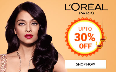 Get Online Offers on L'Oreal Paris Products Upto 30% off