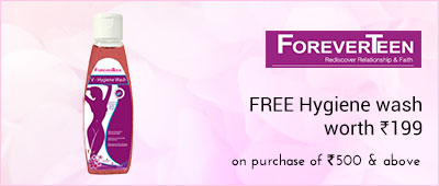 ForeverTeen Buy worth Rs 500/- and get 1 Hygenie wash worth Rs 199/-