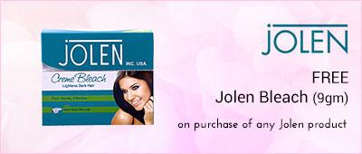 Jolen On purchase of Jolen products,Get Jolen Bleach 9gm Free
