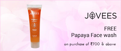 Jovees On purchase of Rs 700 & above Get a Jovees Papaya Face wash Free