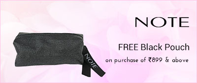 Note Free Black pouch from Note on purchase of products worth Rs 899