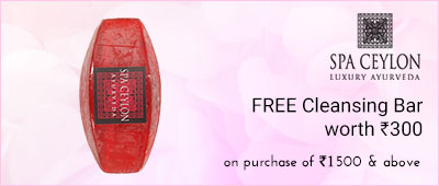 Spa Ceylon Luxury Ayurveda Free Cleansing bar worth Rs 300 on purchase of Rs.1500 and Above