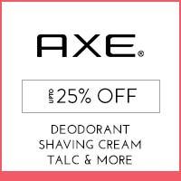 Axe Upto 25% off