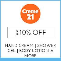 Crème 21 Flat 10% off