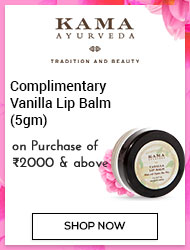 Kama Ayurveda Complimentary Vanilla Lip Balm(5gm) on purchase of Rs 2000 & above