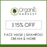 Organic Harvest Flat 15% off