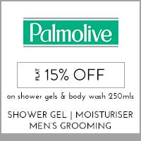 Palmolive Flat 15% off On shower gels and body wash 250mls