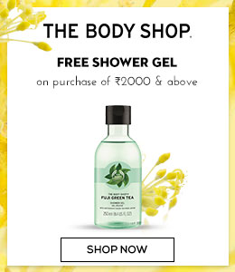 The Body Shop Free Shower Gel on purchase of Rs 2000 & above