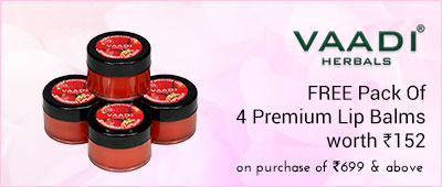 VaadiHerbals Free luxurious saffron shower gel worth Rs 205 (300ml) on purchase of Rs 999 and above