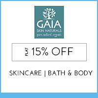 Gaia Skin NaturalsFlat 15% off