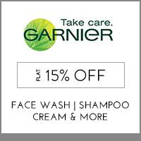 GarnierFlat 15% off