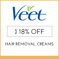 VeetFlat 18% off on Veet Sensitive touch electric trimmer