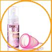 WOW Skin Science Freedom Premium Menstrual Cup & Wash - Medium