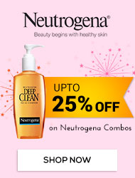 Get Online Offers on Neutrogena Products Upto 25% off on Neutrogena Combos