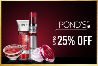 Get Online Offers on Ponds Products Upto 25%
