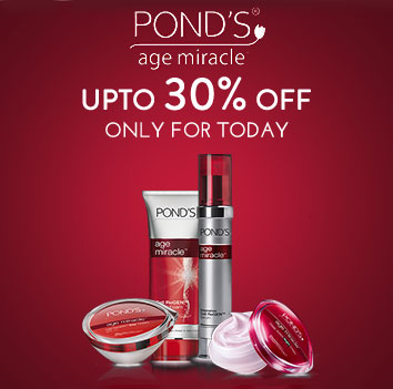 Get Online Offers on Ponds Products Upto 30% off