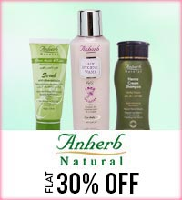 Get Online Offers on Anherb Natural Products Flat 30%