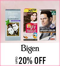 Get Online Offers on Bigen Products Upto 20%