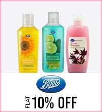 Get Online Offers on Boots Products Flat 10%