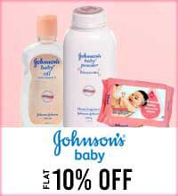 Get Online Offers on Johnson & Johnson Products Flat 10%