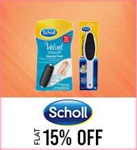 Get Online Offers on Scholl Products Flat 15%