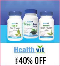 Get Online Offers on Healthvit Products Upto 40%
