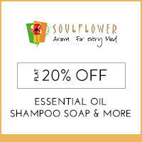 Get Online Offers on Soulflower Products Flat 20% Off
