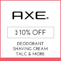 Get Online Offers on Axe Products Flat 10% off
