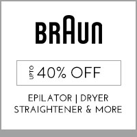 Get Online Offers on Braun Products Up to 40% off