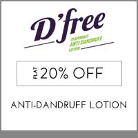 Get Online Offers on D'free Products Flat 5%