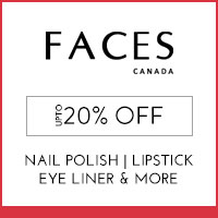Get Online Offers on Faces Products Upto 20% off