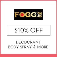 Get Online Offers on Fogg Products Flat 10% off