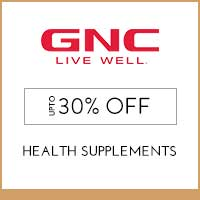 Get Online Offers on GNC Products Flat 50% of
