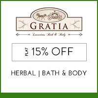 Get Online Offers on Gratia Products Flat 25%