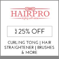 Get Online Offers on HairPro Products Flat 10% off