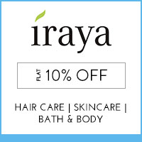 Get Online Offers on Iraya Products Flat 15%
