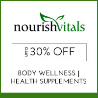 Get Online Offers on Nourish Vitals Products Flat 15%