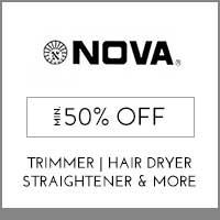 Get Online Offers on Nova Products Jan Sale Offer