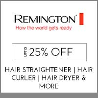 Get Online Offers on Remington Products Upto 15% off