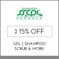 Get Online Offers on SSCPL Herbals Products Flat 15% Off