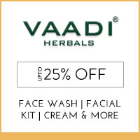 Get Online Offers on Vaadi Herbals Products Upto 20% off