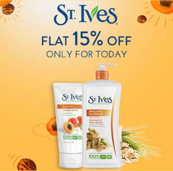 Get Online Offers on St. StIves Products Flat 15% off