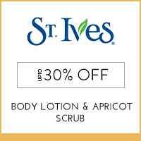 Get Online Offers on St. Ives Products Flat 15% Off