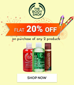 Get Online Offers on The Body Shop Flat 20%