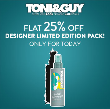 Get Online Offers on ToniGuy Products Flat 25% off