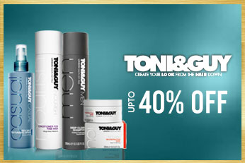 Get Online Offers on ToniGuy Products Upto 40%