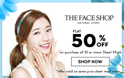 The faceshop Buy 10 or more sheetmaks at half price